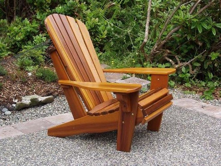 Cedar Ottoman Plans ~ Best adirondack chair kits ideas on pinterest wooden