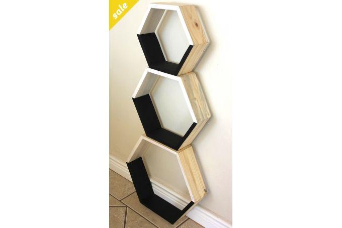 Hexagon Shelves (large) by Baillie & Kovar Design & Decor