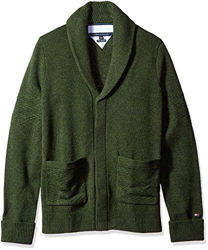 Tommy Hilfiger Men's Big and Tall That Way Shawl Cardigan  Shawl collar cardigan  Button closures