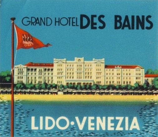Grand Hotel Des Bains - Lido Venezia Vintage travel beach poster #lido #deco #essenzadiriviera - www.varaldocosmetica.it