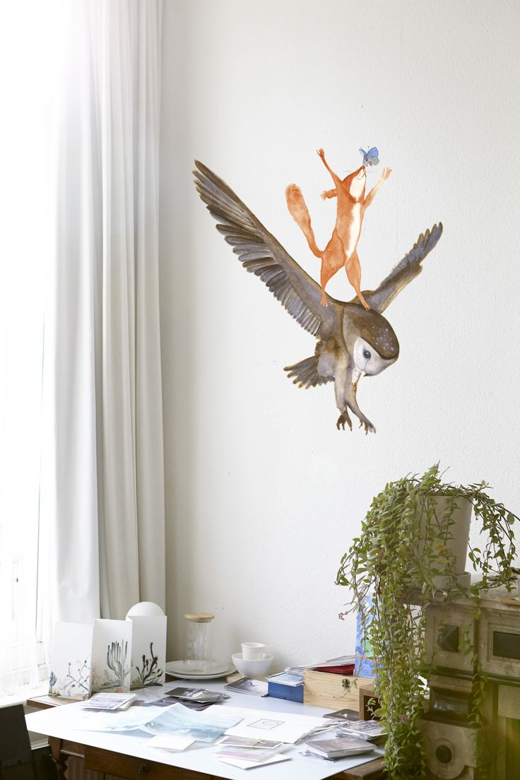 Billertje en anderen Billertje is die superblije eekhoorn. Hij is nu ook als muursticker beschikbaar!   | fabuleuz