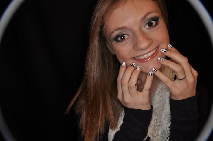 Emilie with her piano nail art: Piano Nails, Nails Art, Nail Art