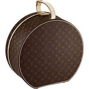 Louis Vuitton hat box.