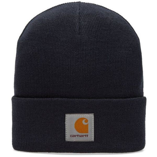 Carhartt Short Watch Hat (€165) ❤ liked on Polyvore featuring accessories, hats, carhartt hats, woven hat, watch hat, carhartt and watch cap