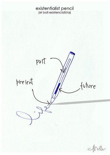 existentialist pencil   por gracemallea