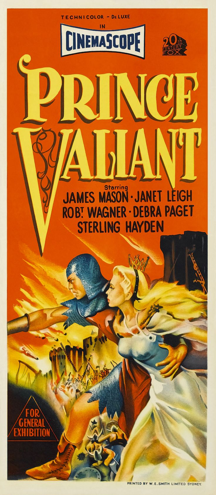 After the evil King Sligon exiles his family from Scandia, Prince Valiant (Robert Wagner) vows to become a member of King Arthur's Knights of the Round Table in order to return his father to the throne. As he travels to Camelot, Valiant discovers the Black Knight, a villain conspiring with Sligon to destroy King Arthur. Under the eye of Sir Gawain (Sterling Hayden), Valiant trains to become a knight, falls for a princess (Janet Leigh) and unmasks the Black Knight.