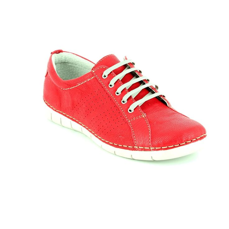 Get your ladies relax shoe casual sneaker online now at Begg Shoes and Bags. Red lace up relaxshoe: www.beggshoes.com