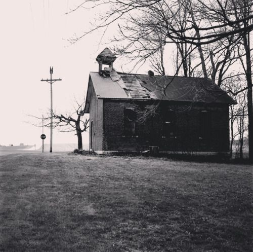 Back roads of Ohio. An old, abandoned one room schoolhouse that we passed on our way to the Tiffin flea market this morning.