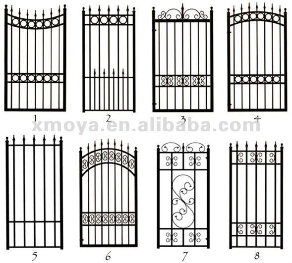 2012 único ferro fundido jardim porta principal cerca grade ornamentos de ferro cerca portão elements