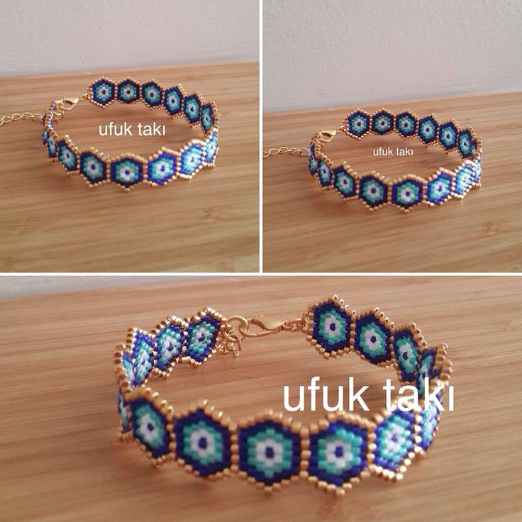 Brick stitch peyote seed bead bracelet