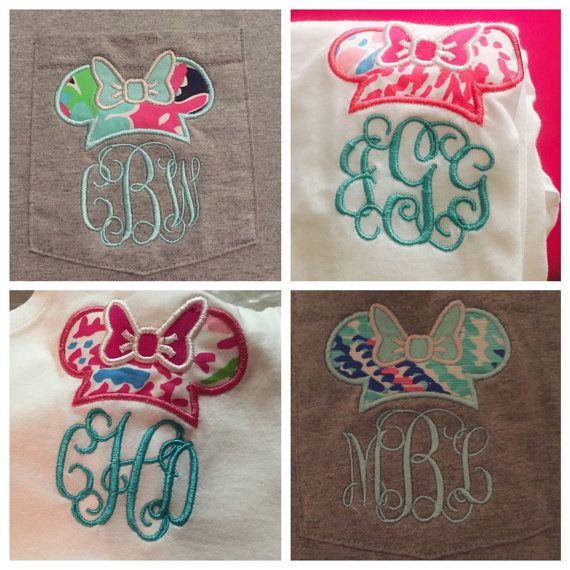 Minnie Mouse Lilly Pulitzer Monogram shirt by MurphyMonograms