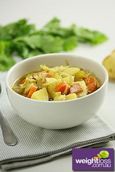 Potato Cabbage and Bacon Soup. #DietRecipes #WeightLossRecipes #SoupRecipes  weightloss.com.au