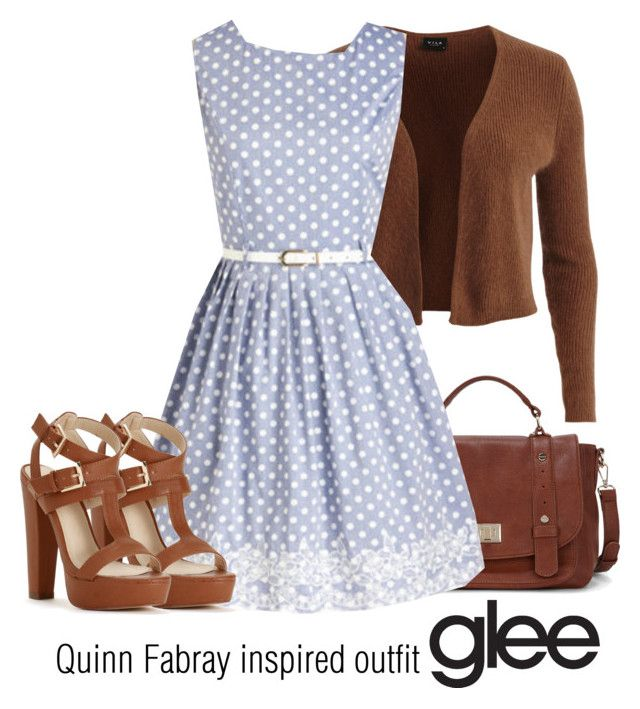 """Quinn Fabray inspired outfit/GLEE"" by tvdsarahmichele ❤ liked on Polyvore featuring Sole Society and VILA"