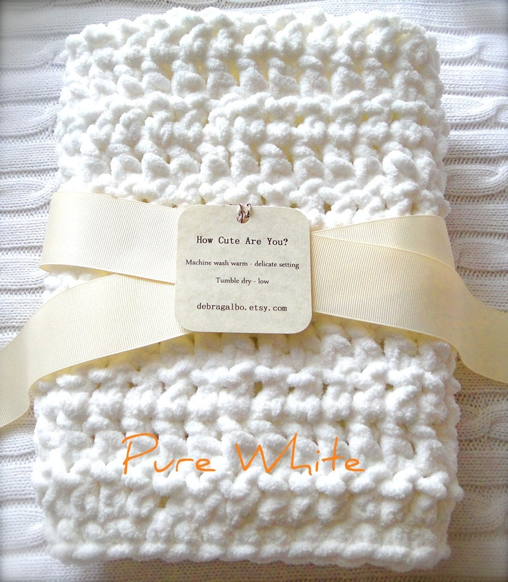 Crochet Chenille Baby Blanket Pattern : 90 best images about Baby blanket on Pinterest Weighted ...