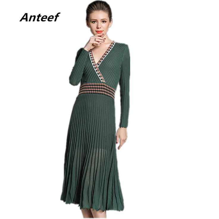 Cheap sweater dress, Buy Quality dress fashion directly from China fashion dress Suppliers:  new fashion cotton sexy v-neck high waist women casual autumn long knitted sweater dress vestidos femininos 2017 dresses