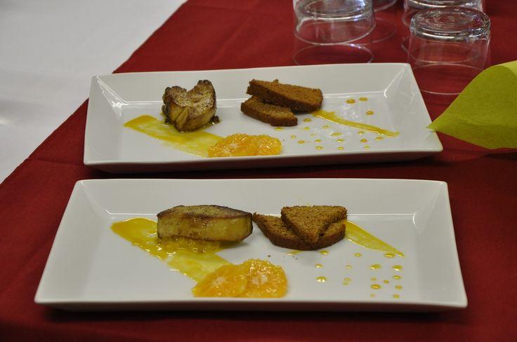 Escalope de foie gras de canard la mandarine et toast de pain d pices cours de cuisine - Atelier de cuisine en gascogne ...