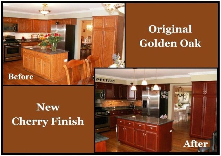 Best Refinishing Kitchen Cabinets Before And After Refacing 400 x 300