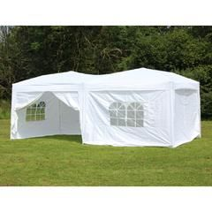 10 x 20 Palm Springs Pop Up WHITE Canopy Gazebo Party Tent with 6 Side Walls New - Kmart