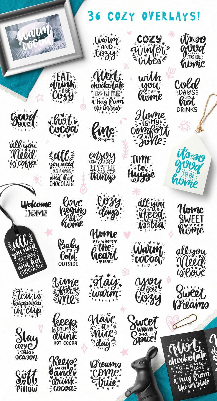 36 Cozy Photo Overlays With Clipart! By Qilli On @creativemarket