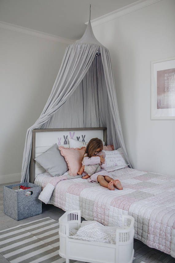 This play canopy is made with lightweight 100% linen and drapes quite well.  Adding this gorgeous canopy to your kids play room is also a perfect choice. Create a warm and precious atmosphere for your little ones to enjoy their happy play times.  The kids canopy is fixed to the ceiling