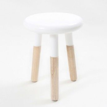 Paint Dipped Stool (white) - so cute!