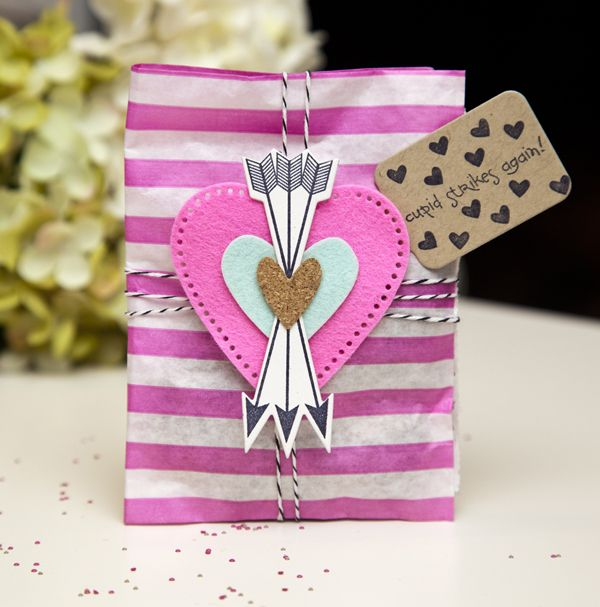 """valentine's treat bag by ashley - she said, """"the arrows steal the show!"""""""