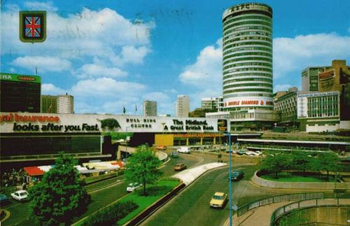 The old Bullring in Birmingham, now completely redeveloped. There's something about the old city that I miss, even though it's now a clean, and altogether improved, destination.