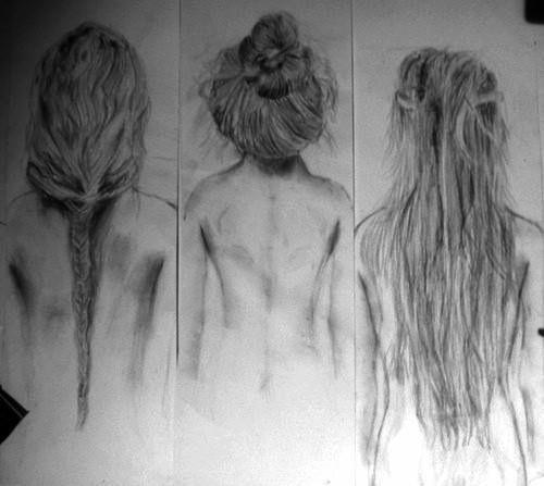 Jag har aldrig tålamod till att rita hår
