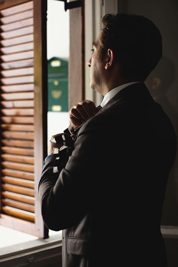 Groom getting ready to meet his bride! #weddingingreece #portrait #groom #p2photography #idea #pose #men #suit