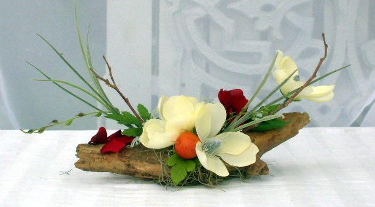 Silk Flower Arrangement Driftwood