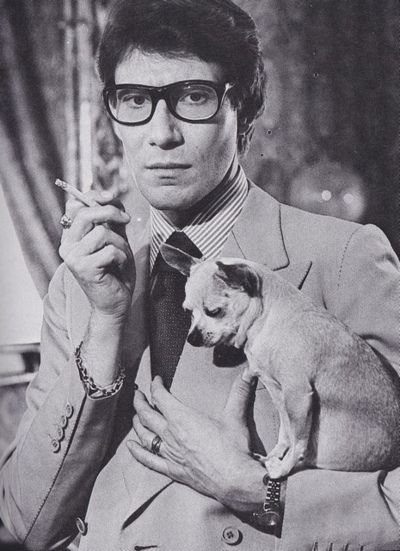 Yves Saint Laurent (and a chihuahua)