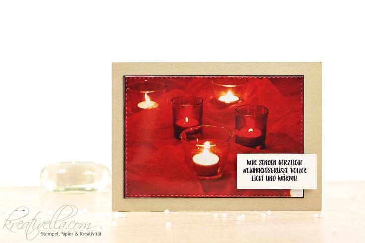Foto-Weihnachtskarte - selbstgemacht mit Stichted Rectangles Framelits, einem Foto und dem Stempelset Ausgestochen weihnachtlich von Stampin' Up!