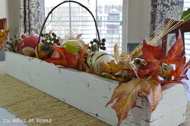 Ideas for a simple thanksgiving table centerpiece zu haus