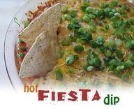 Hot Fiesta Dip - one of my all time favorites!  AmandasCookin.com @amandaformaro