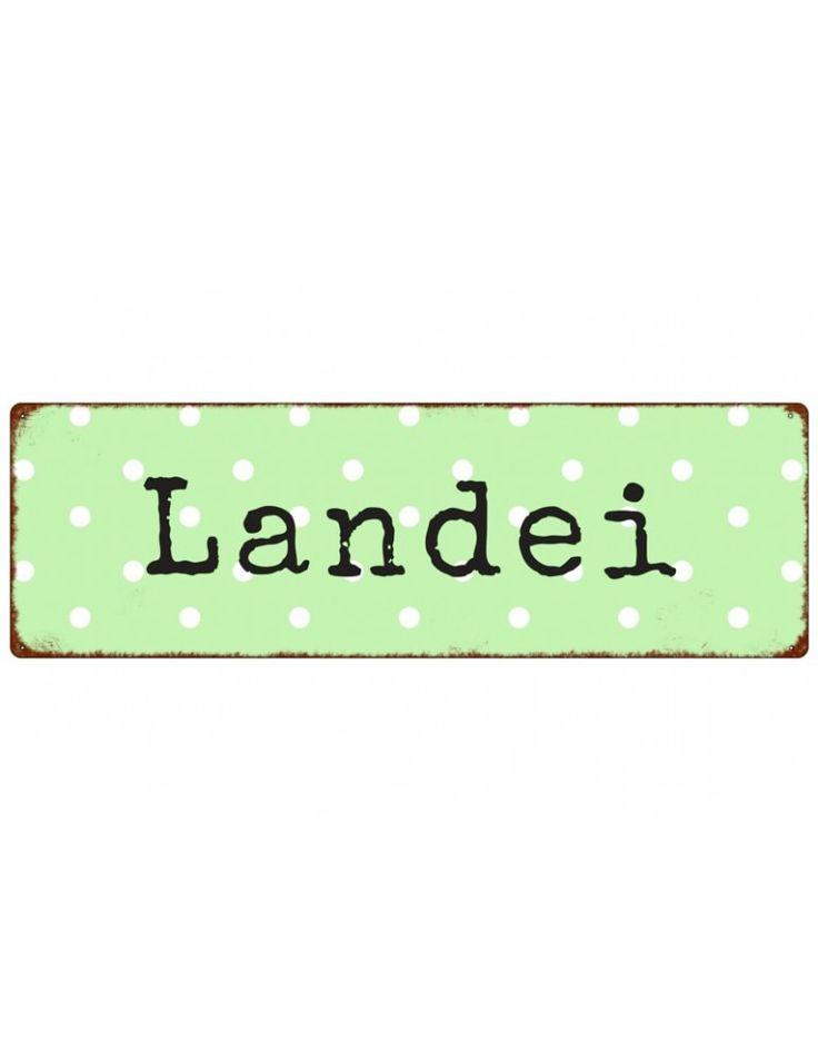 """Dekoschild Metall Schild """"Landei"""" Made in Germany …"""