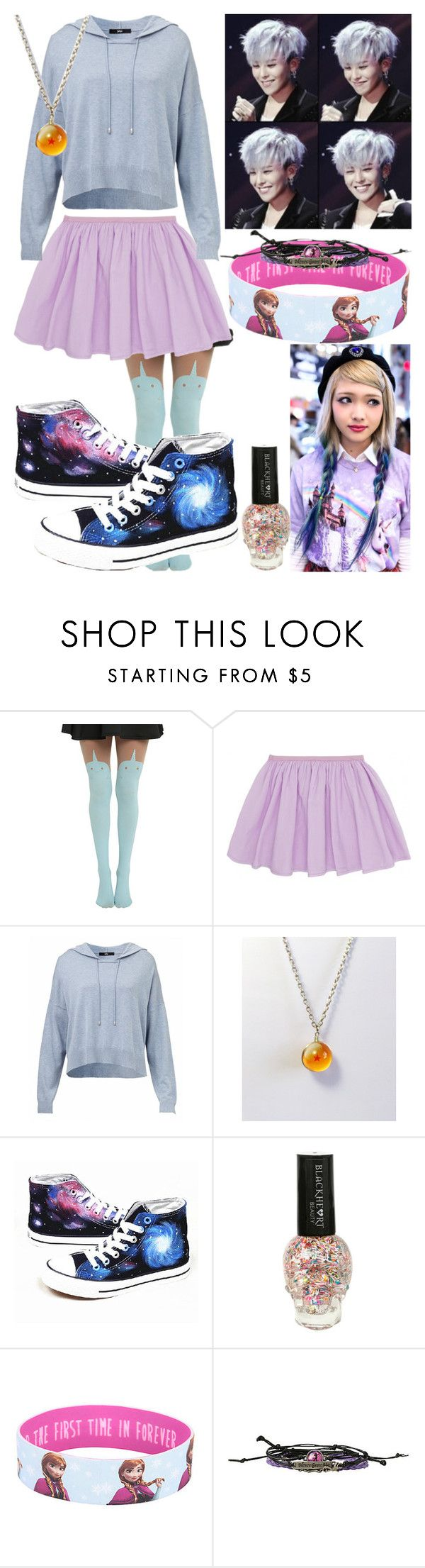 """""""Getting my Crayon with G Dragon"""" by mikupayneluvs1d ❤ liked on Polyvore featuring moda, Converse i Disney"""