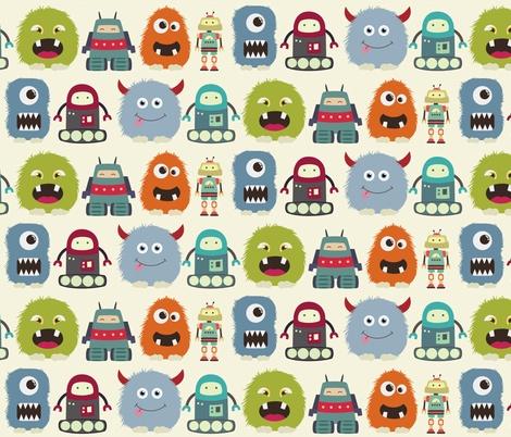 monstersandrobots fabric by dogsndubs on Spoonflower - custom fabric