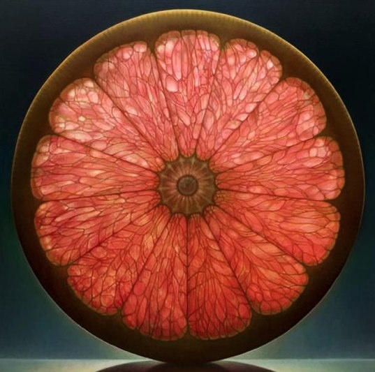 Grapefruit Mandala.