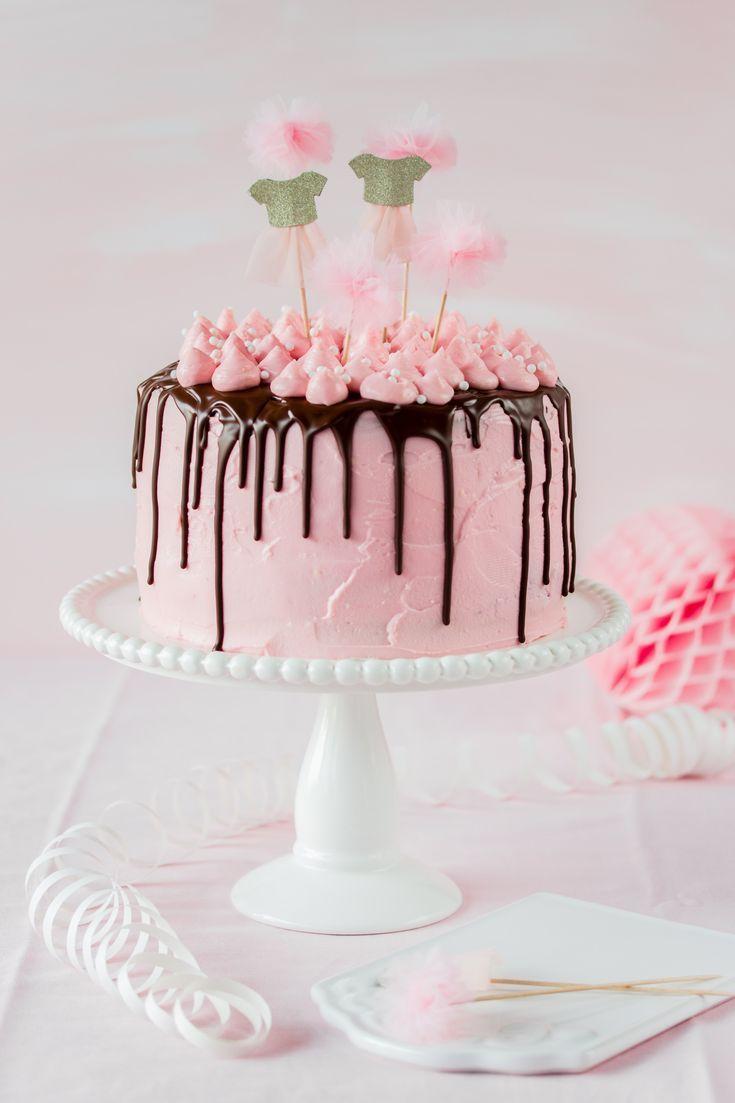 Pink Girl Kuchen Rezept Geburtstag Backen Tropf Kuchen Ballerina #Tort #Baking ……   – Baby Shower Ideen