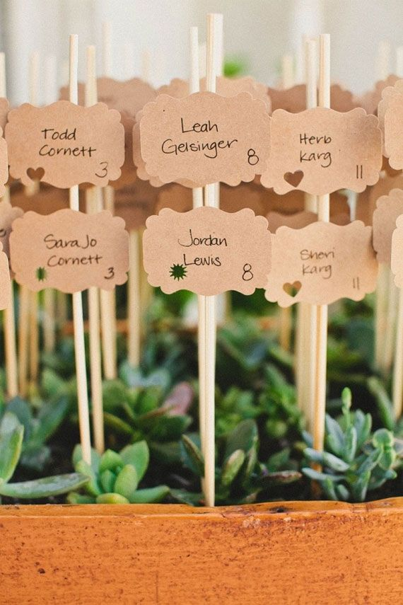 Escort cards- picks in moss instead?