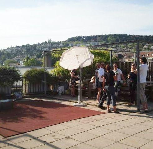 2013-06-08 Hopping Dinner Grillierplausch in Zürich - Location: Dachterrasse am Escher-Wyss-Platz, über den Dächern der Stadt!