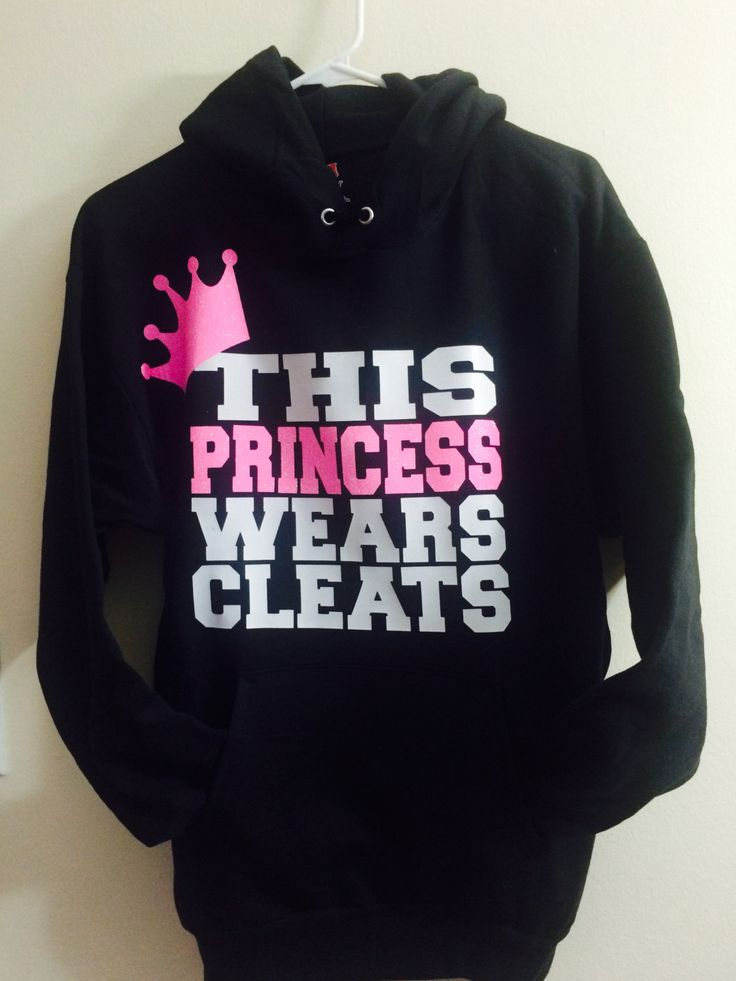 Softball Hoodie, Girl's Softball Hoodie, Girl's Soccer Hoodie, This Princess Wears Cleats,  Softball Gifts, Soccer Gifts by JessicaLynneDesigns2 on Etsy