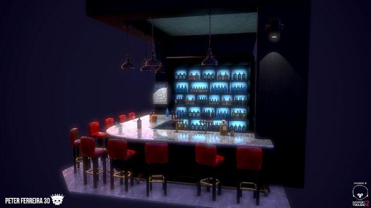 Pub Scene, Peter Ferreira on ArtStation at https://www.artstation.com/artwork/pub-scene