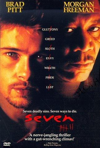 Se7en: Movie Posters, Morgan Freeman, Se7En 1995, Favorite Movies, Films, Brad Pitt, David Fincher, Horror Movie