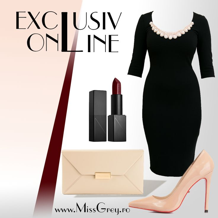 Love the elements! The simple little black dress with lace application at the neck and the marsala lipstick are a perfect combination for an elegant outfit!