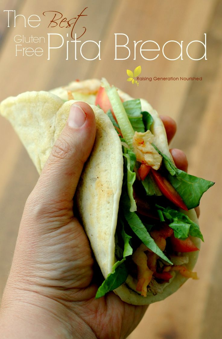 Quick and easy batter, sturdy enough to hold ingredients, flexible enough to fold and not break, and tastes amazing! These pitas feel just like real bread!