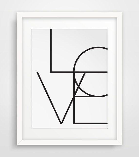 Typography Poster Word Art Wall Words Love by MelindaWoodDesigns