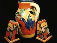 Cliffbizarre - Clarice Cliff was arguably the most important pottery designer of the 20th century. She was born in 1899 in Tunstall, Stoke-on-Trent, England, the fourth of eight children. From an early age she was proficient in art. At the age of 13 she became an apprentice enameller.
