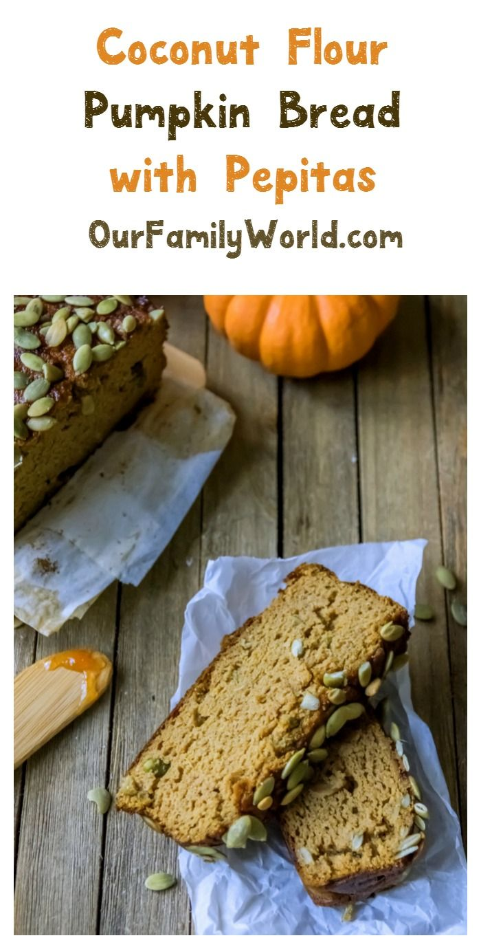 Looking for great healthy Christmas dessert? This Gluten free, low carb coconut flour pumpkin bread with pepita is a delicious one for kids and grown-ups alike!