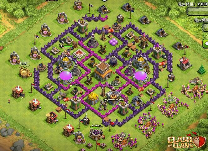 Clash-of-Clans-TH-8-base-1   Best 5 Clash of Clans Town